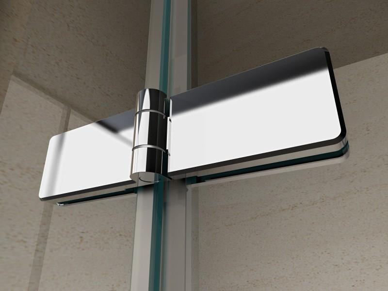 Duschkabine Eckeinstieg Falttür Nano 6 mm Echtglas EX213 - 90 x 90 x 195 cm zoom thumbnail 3