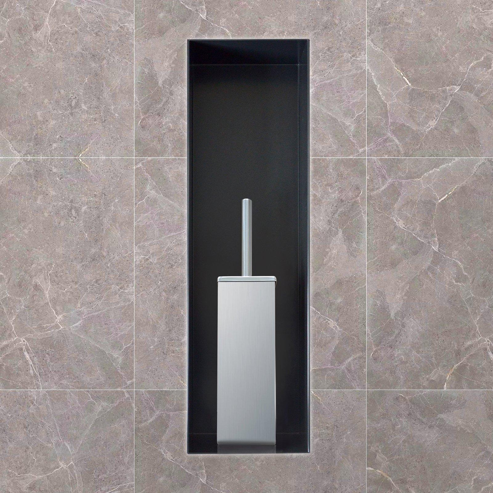 BERNSTEIN Wandnische aus Edelstahl BS156010 randlos - 15 x 60 x 10 cm - Weiß zoom thumbnail 3