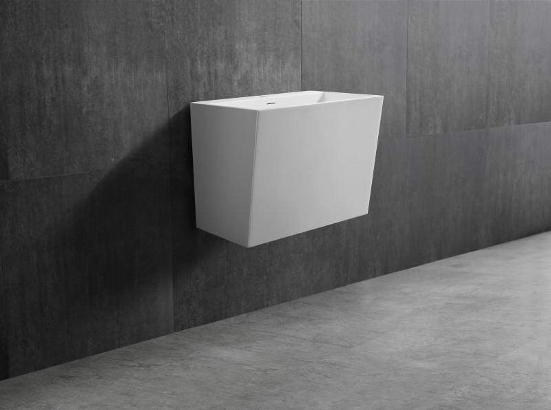 Wandwaschbecken TW18 aus Mineralguss Solid Stone - 50 x 35 x 40 cm -
