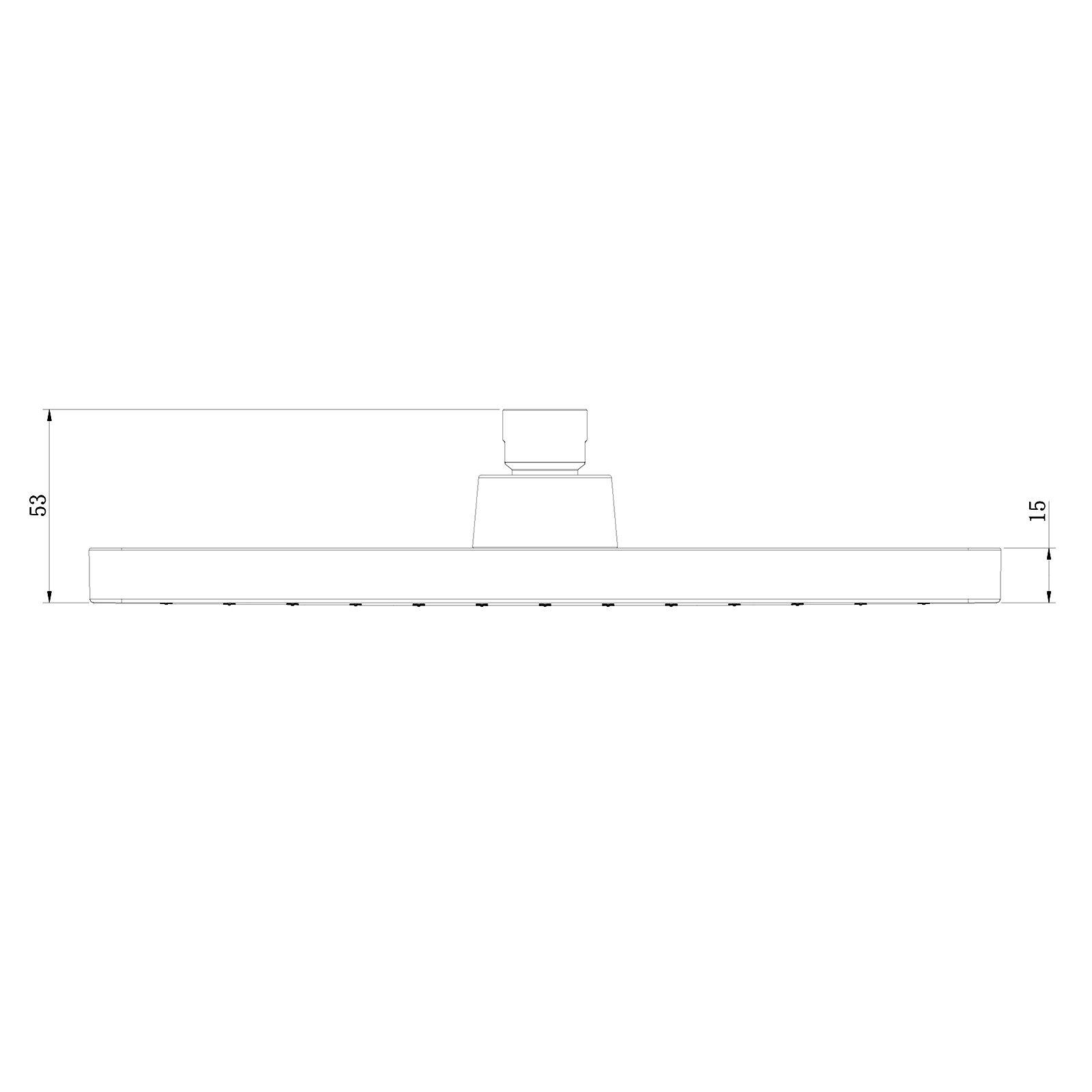 Regendusche ABS-Duschkopf D2517 selbstreinigend - 25 x 17 cm - Farbe wählbar zoom thumbnail 6