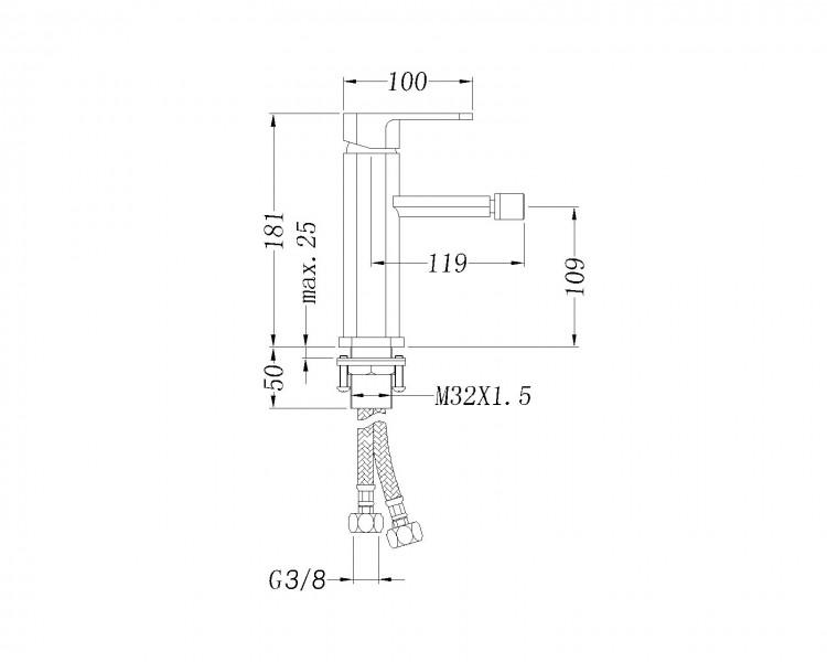 Bernstein Design-Bidet-Misch-Armatur 1238C zoom thumbnail 3