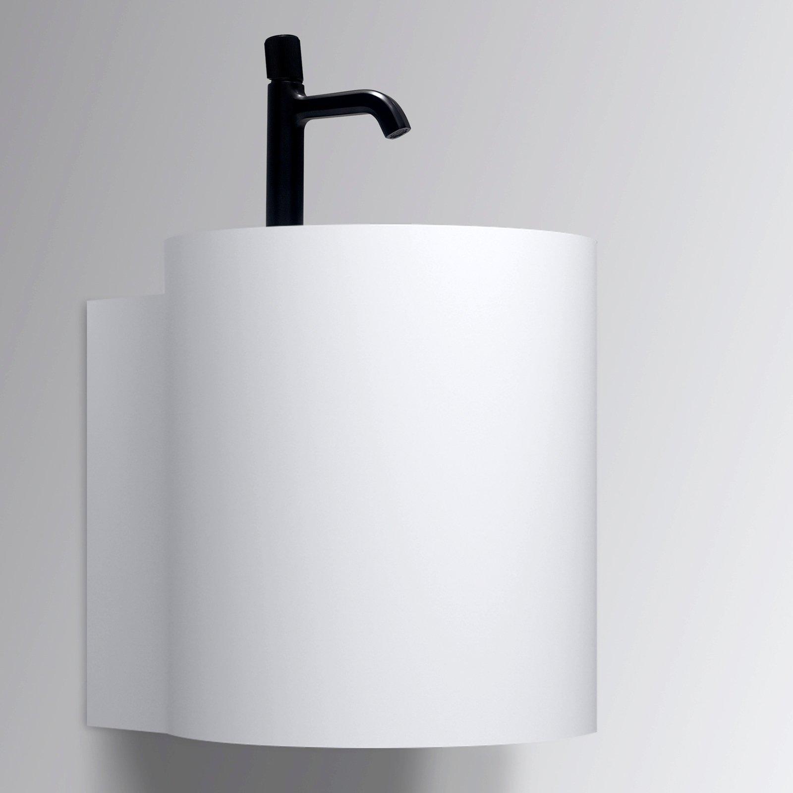 Wandwaschbecken NT2440 aus Mineralguss - 40 x 42 x 45 cm - Weiß matt zoom thumbnail 3