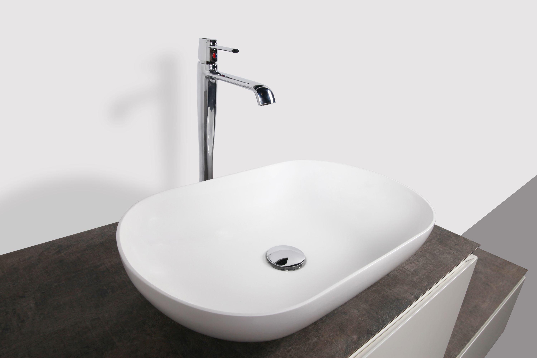 Aufsatzwaschbecken O-540 aus Mineralguss - Weiß matt - 54 x 34 x 10,5 cm zoom thumbnail 6