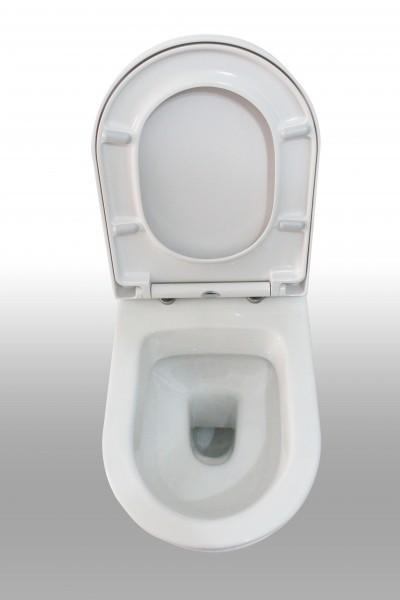 Wand-Hänge-WC B-8030 Weiß - inkl. Softclose-Deckel zoom thumbnail 4