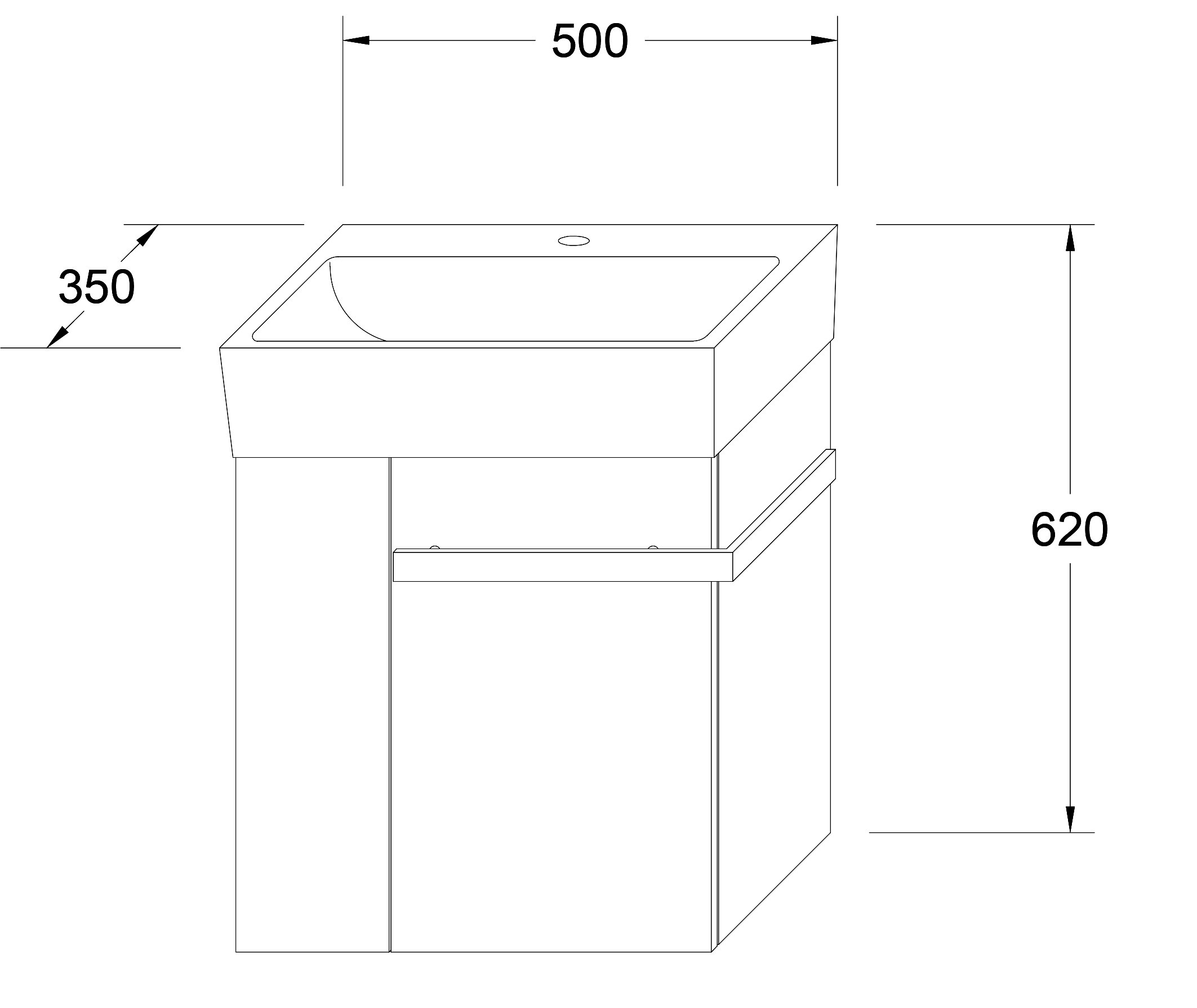 Badmöbel-Set Compact 500 für Gäste-WC - Taupe hell matt zoom thumbnail 4