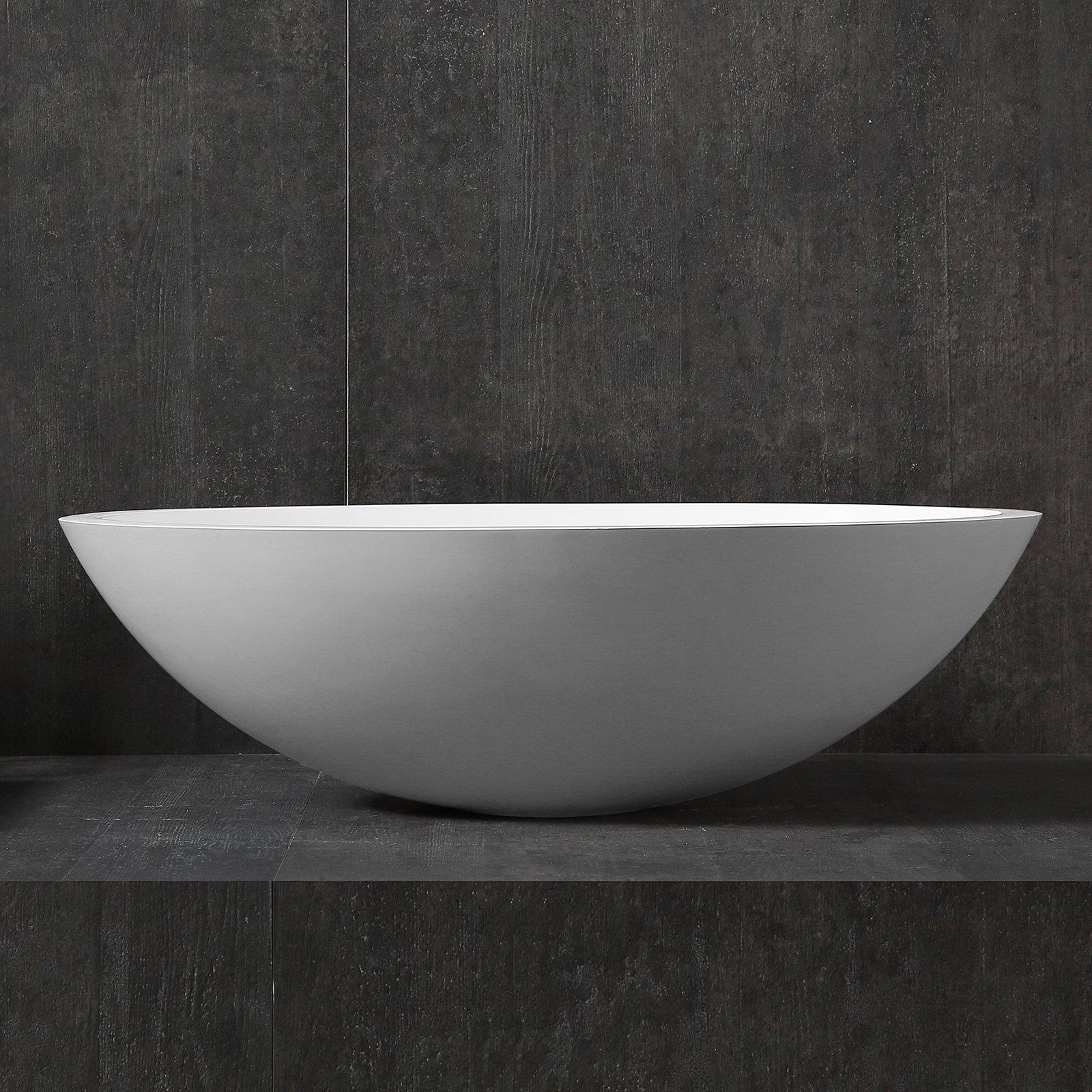 Aufsatzwaschbecken TW2106 aus Mineralguss Pure Acrylic - Matt - 50 x 35 x 15 cm zoom thumbnail 5