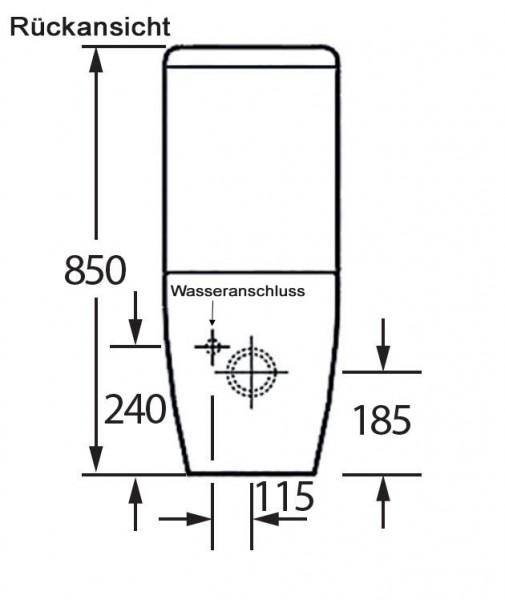 BERNSTEIN Stand-WC Toilette mit Softclose-Sitz CT101 zoom thumbnail 3