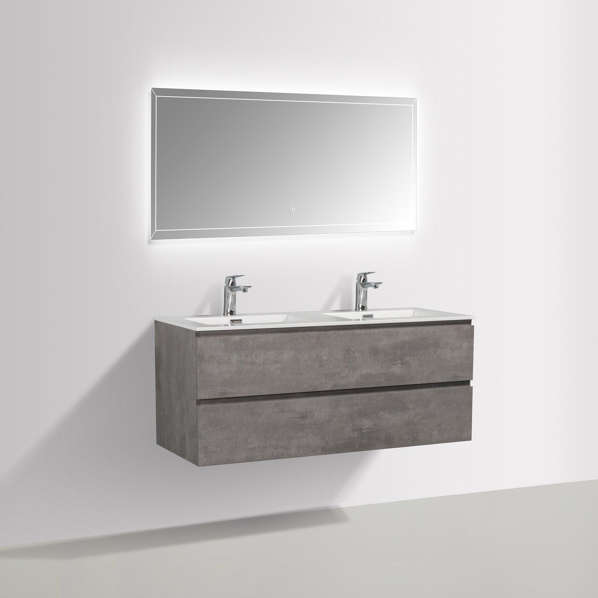 Badmöbel-Set Alice 1200 Beton-Optik - Spiegel optional