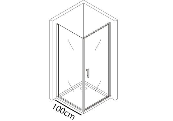 Festes Glas 100cm