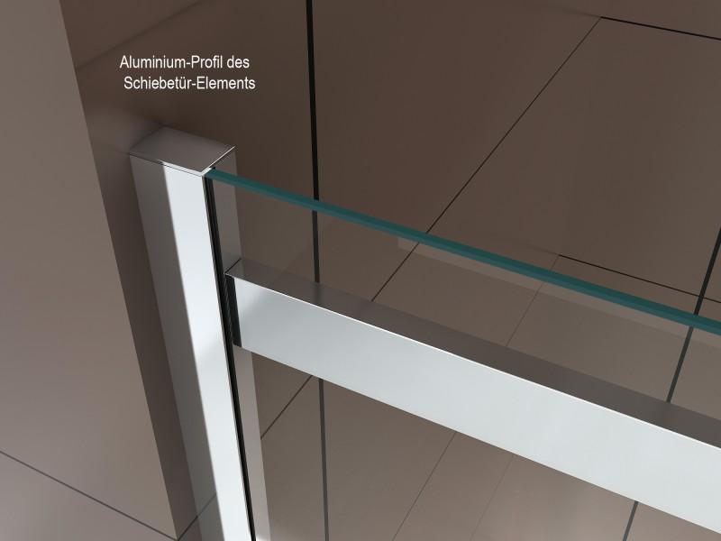 Dusche für Nische mit Schiebetür DX806A FLEX - Nano ESG-Sicherheitsglas - Breite wählbar zoom thumbnail 5