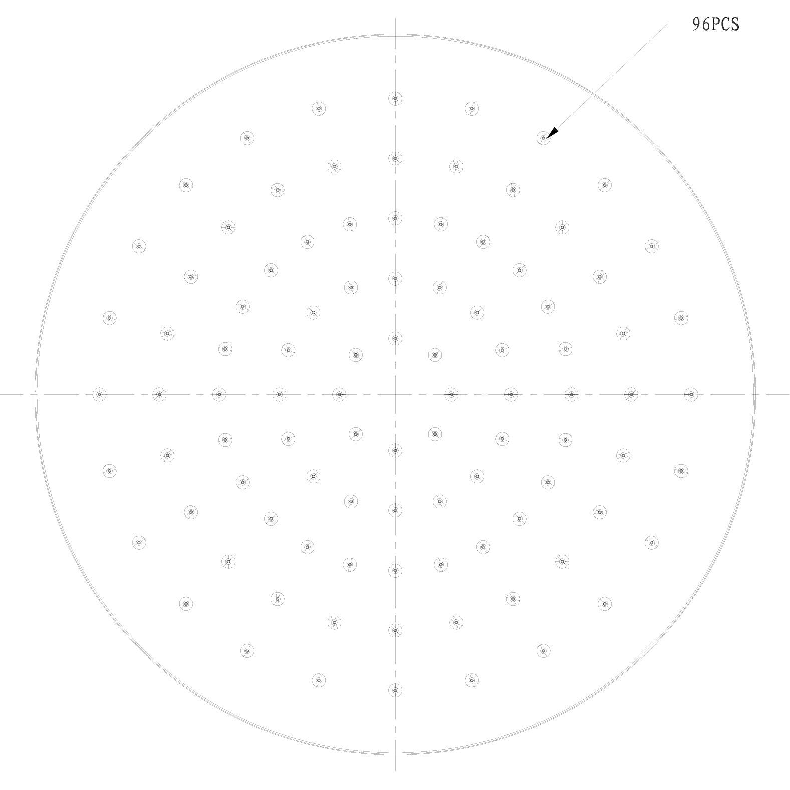 Regendusche ABS-Duschkopf D2250 selbstreinigend - 22,50 cm rund - Farbe wählbar zoom thumbnail 5