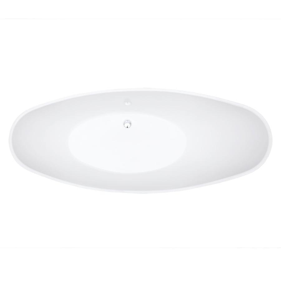 Freistehende Badewanne VICE Acryl Weiß - 183,5 x 78,5 cm - Oberfläche & Standarmatur wählbar