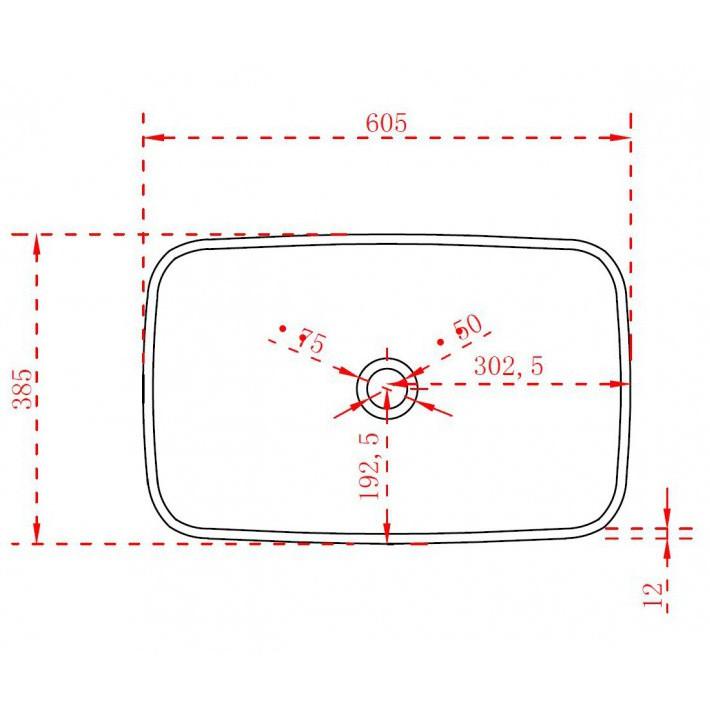 Aufsatzwaschbecken TWA06 aus Mineralguss (Pure Acrylic) - Hochglanz - 60,5 x 38,5 x 10,5 cm zoom thumbnail 5