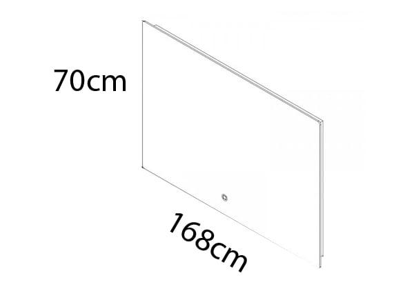 168 x 70 cm