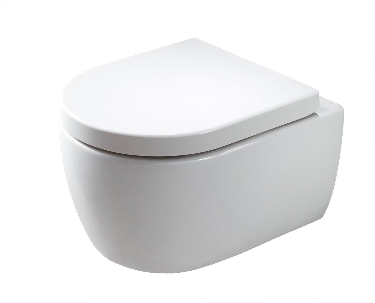 Spülrandloses Wand-Hänge WC NANO NT2039 - inkl. Softclose-Deckel