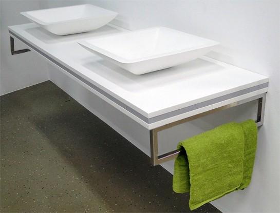 Design Wandhalterung Handtuchhalter für Waschtischplatte Counterboard SMART-Line - 2 Stück zoom thumbnail 4