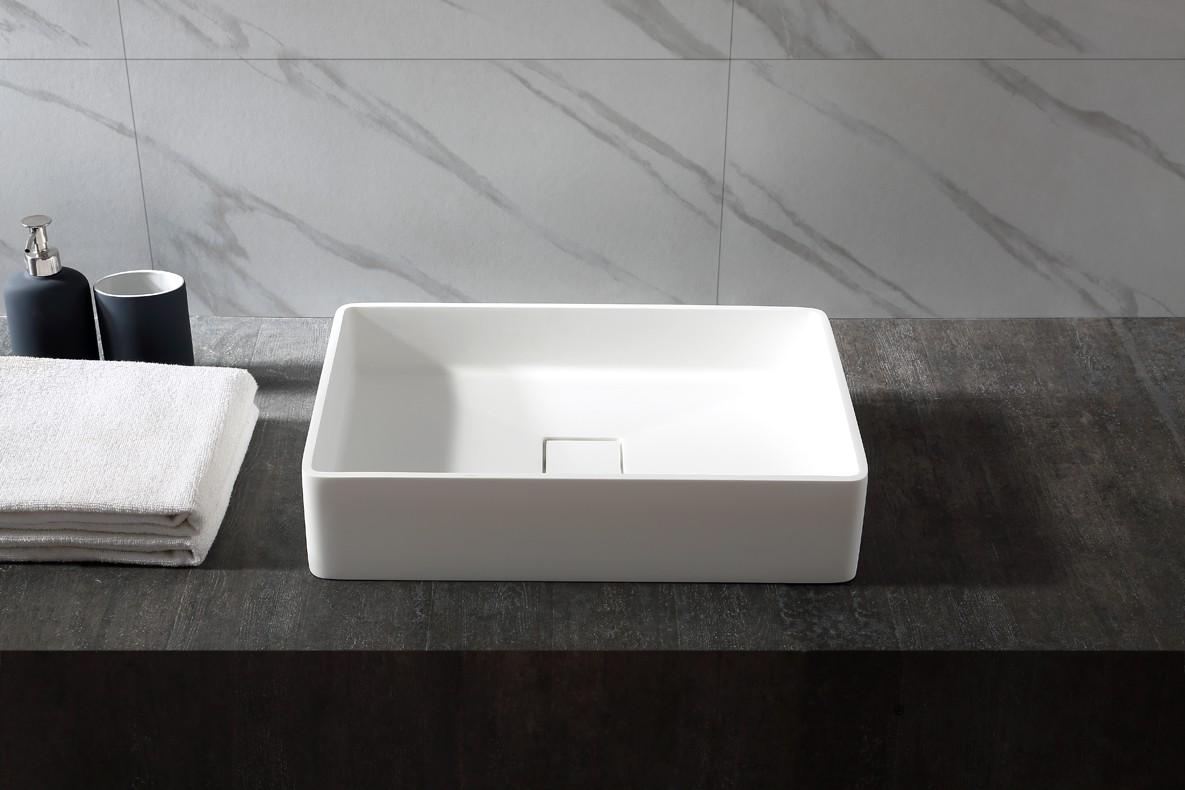 Aufsatzwaschbecken Aqua aus Mineralguss Pure Acrylic - 48x32x10,5cm - in Matt oder Hochglanz zoom thumbnail 4