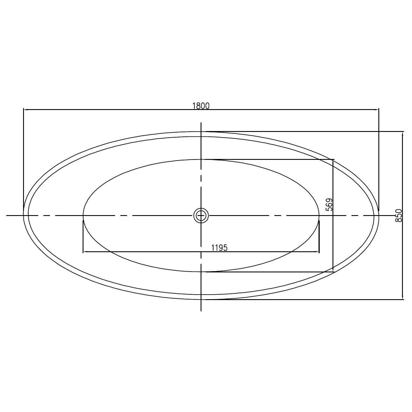 Freistehende Badewanne aus Mineralguss RIO STONE weiß - 180 x 85cm - Wählbar in Matt oder Hochglanz  zoom thumbnail 4