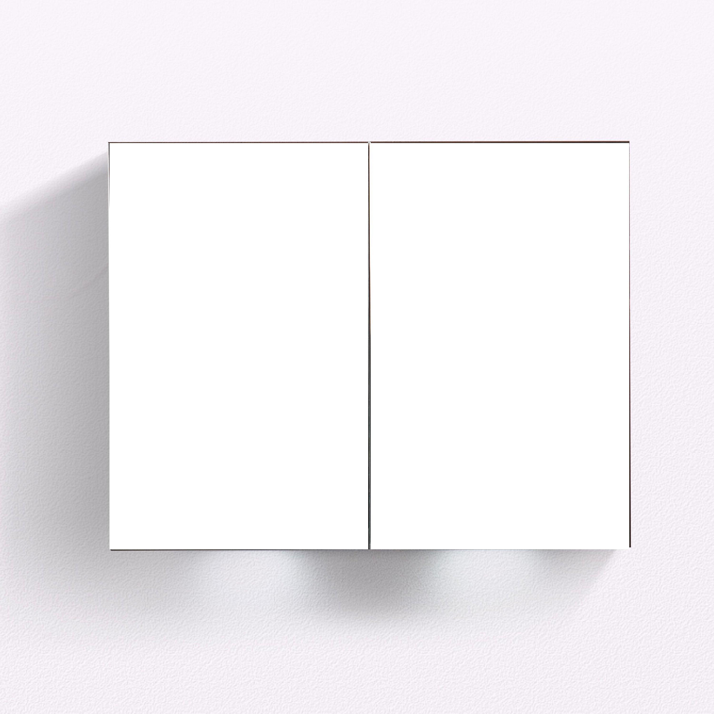 Aluminium-Spiegelschrank G900 2-türig - innen und außen Spiegel - 90 x 70 x 13 cm zoom thumbnail 4