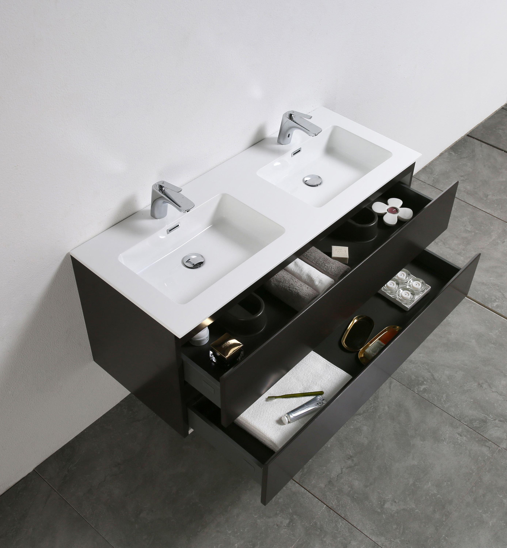 Badmöbel-Set Alice 1200 Coffee matt - Spiegel optional