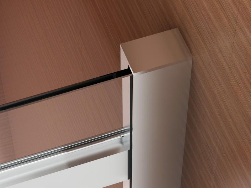 Duschkabine Nano Echtglas EX806 Schiebetür - 90 x 120 x 195 cm zoom thumbnail 4
