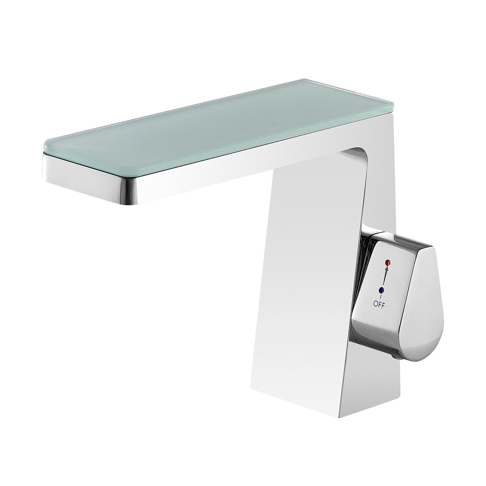 Design Wasserfall Waschtischarmatur NT7320 - Wasserhahn in Chrom
