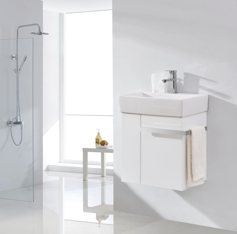 Badmöbel-Set Compact 500 für Gäste-WC - Weiß matt