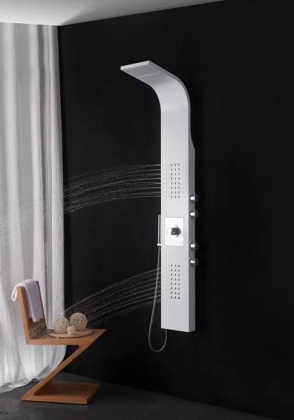 Duschpaneel Edelstahl weiß Duschsystem mit SEDAL-Thermostat Duschsäule 8815 zoom thumbnail 4
