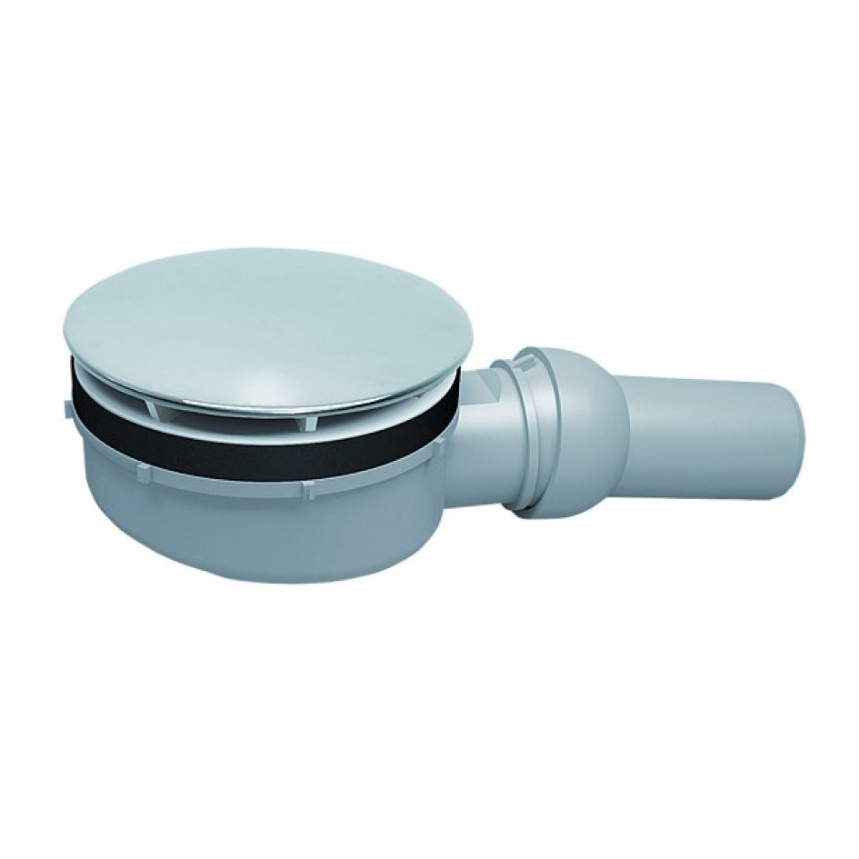Dallmer Duschwannenablauf ORIO 60 für Duschtassen mit 90mm Ablaufloch - Kugelgelenk verstellbar von 0 - 15 Grad