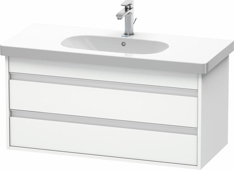 Duravit Ketho Badmöbel Set 1000 mit D-Code Waschtisch - Optional mit Seitenschrank und Spiegel