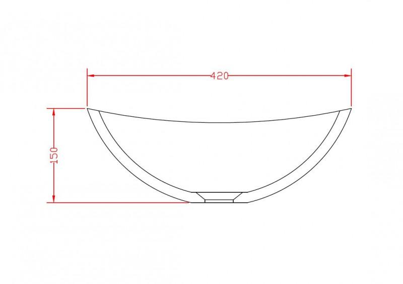 Aufsatzwaschbecken TWA29 aus Mineralguss (Pure Acrylic) - Weiß matt - 42x34x15cm zoom thumbnail 5