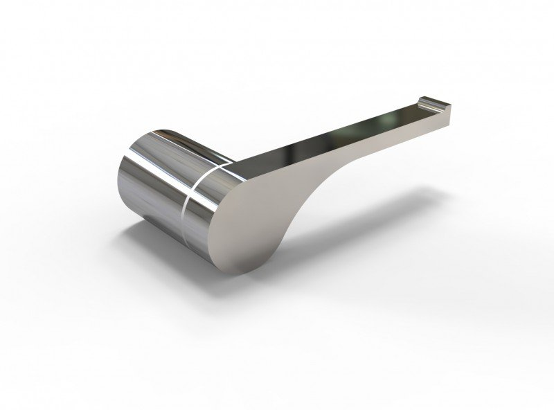 Edler Toilettenpapierhalter SDVTPH Design rund - Serie VERSA - chrom