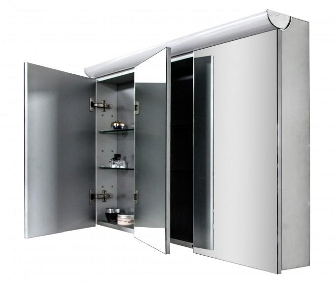 Spiegelschrank Multy BS120 mit LED-Beleuchtung - Breite 120cm zoom thumbnail 4