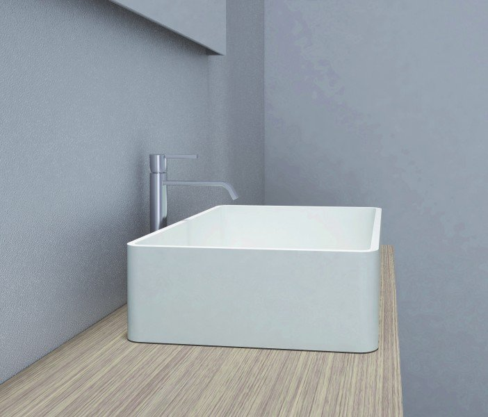 Aufsatzbecken Aufsatz-Waschbecken Rechteck PB2012 - Design geradlinig - 60 x 40 x 15 cm zoom thumbnail 6