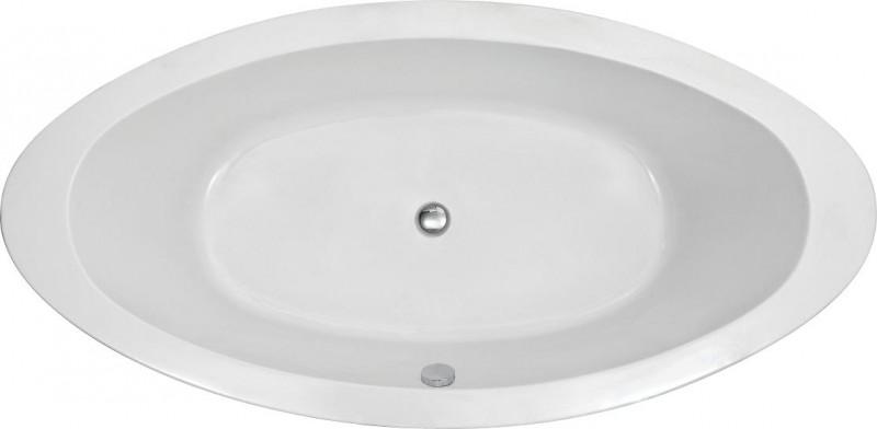 Freistehende Badewanne MODENA ACRYL weiß BS-859 185x91 inkl. Ab/ Überlauf zoom thumbnail 6