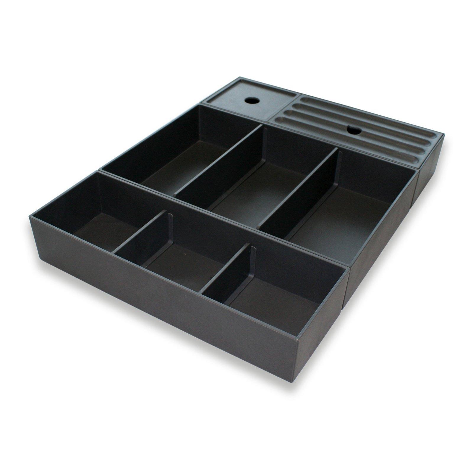 Schubladeneinsatz Kosmetikeinsatz COMBI für Badmöbel - 3-teiliges Set erweiterbar