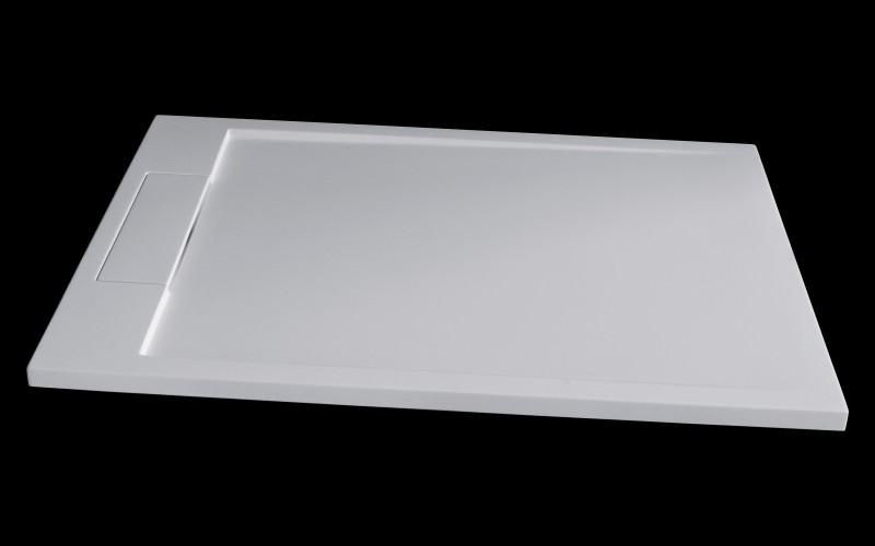 Mineralguss Duschtasse Duschwanne PB3084 - Weiß matt - 120x80x3,5cm