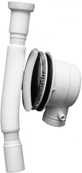 Ablaufgarnitur Typ A für Duschtassen mit 90mm Ablaufloch - flexibler Schlauch