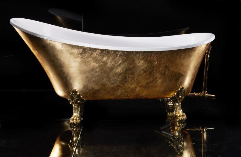 Freistehende Badewanne PARIS PREMIUM Gold - 175 x 74 cm