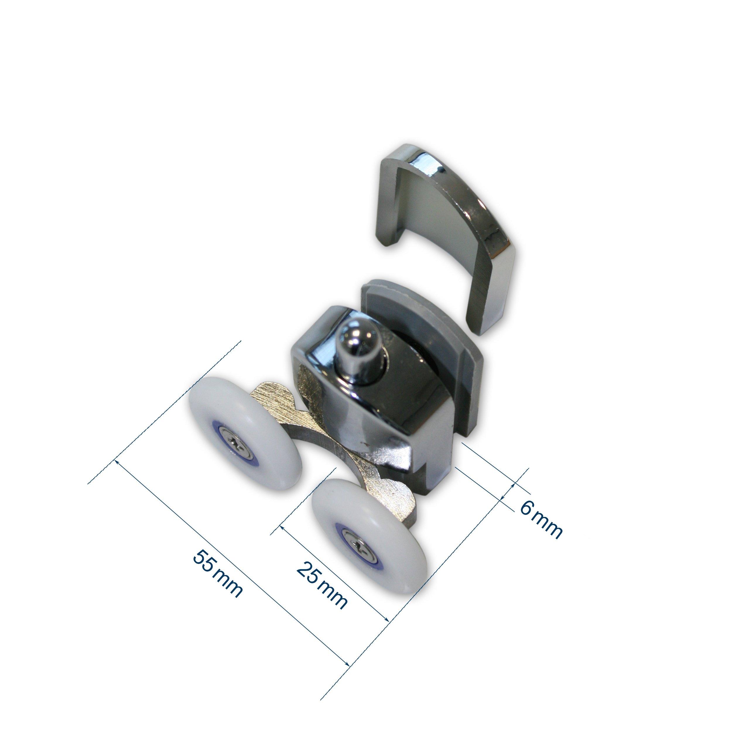 Rollen für Duschkabinentür - Duschtürrollen passend für BERNSTEIN Duschkabinen EX505, EX506 zoom thumbnail 4