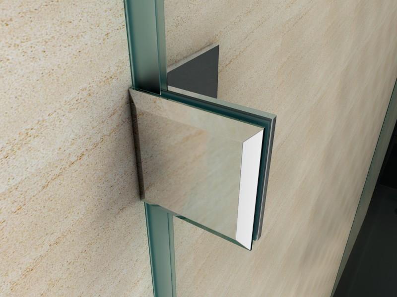 Duschkabine U-Form 8 mm Nano Echtglas EX412 - 80 x 80 x 195 cm zoom thumbnail 4