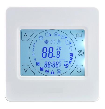 Touch-Screen Thermostat E92 White für elektrische Fußbodenheizung mit TWIN-Technologie