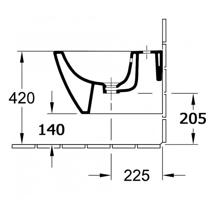 Hochwertiges Wand-Hänge-Bidet BH101 zoom thumbnail 3