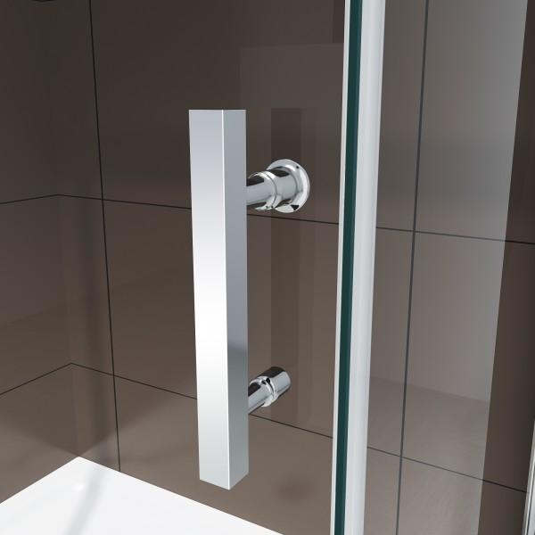 Dusche für Nische mit Schiebetür DX806A FLEX - Nano ESG-Sicherheitsglas - Breite wählbar zoom thumbnail 4