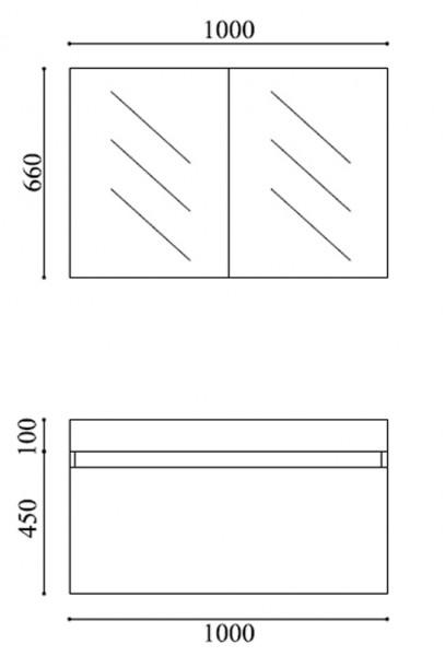 Badmöbel-Set A1000 Basic Eiche geweißt - Spiegel und Seitenschrank wählbar zoom thumbnail 6