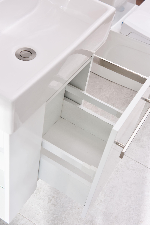 Badmöbel-Set Compact 500 für Gäste-WC - Weiß matt zoom thumbnail 6
