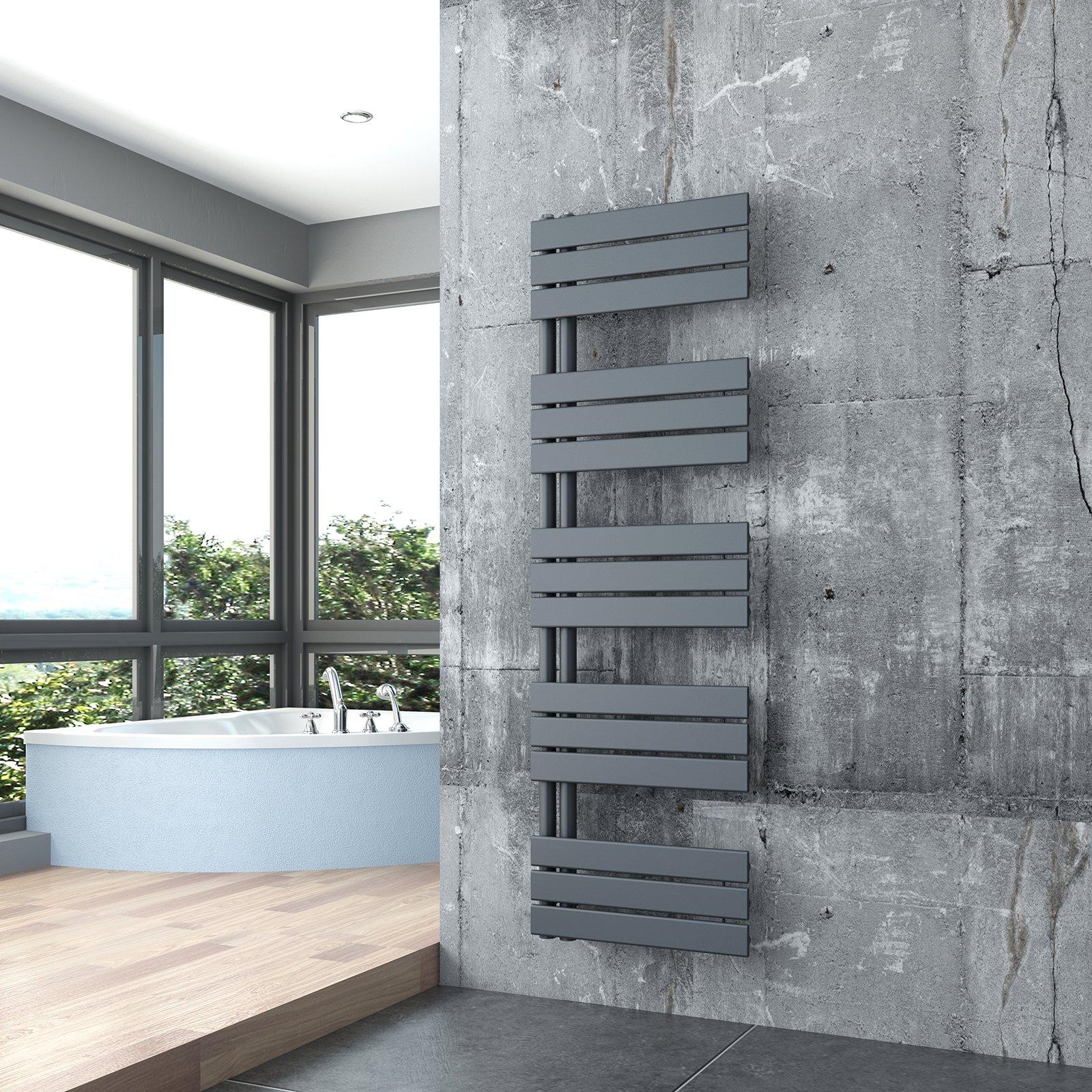 Design Badheizkörper Handtuchwärmer D16G in Anthrazit - Größe wählbar