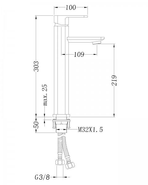 Design-Waschtischarmatur 1234 zoom thumbnail 3
