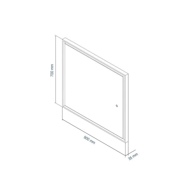 LED Lichtspiegel Badspiegel 2115 - Breite wählbar zoom thumbnail 6
