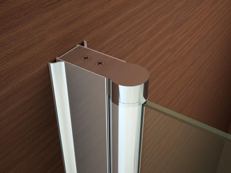 Duschkabine Duschabtrennung Nischentür Nano Echtglas EX218 - 195 cm Höhe - Breite wählbar zoom thumbnail 5